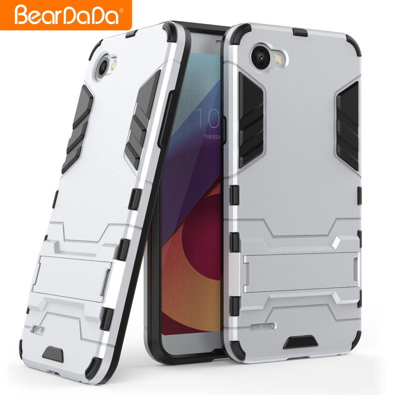 Anti shock kickstand tpu pc cover for lg k5/q6,for lg q6 case back cover