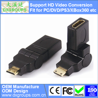 HDMI Female to Mini HDMI Male Adapter (360 Angle Rotate V1.4 3D) For HDTV For DVD
