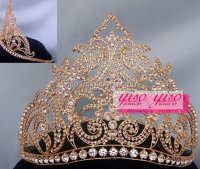 hair brush infrared head crown cheap tall pageant crown tiara