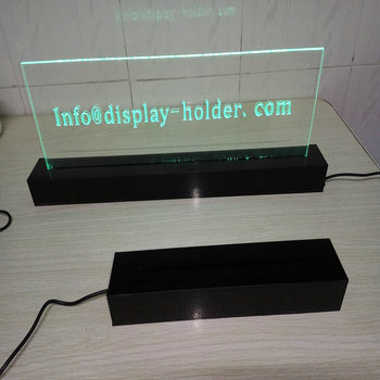 Clear acrylic led display box with light for display case