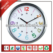 Gift Bathroom Metal Round Wall Clock
