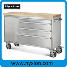 "48"" aluminum roll caster stainless steel tool chest 4 drawers"