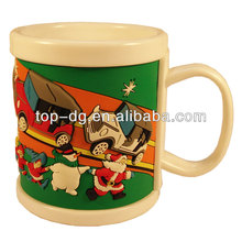 kids plastic rubber mugs