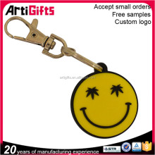 Promotional cheap custom soft pvc emoji key chain,emoji keyrings
