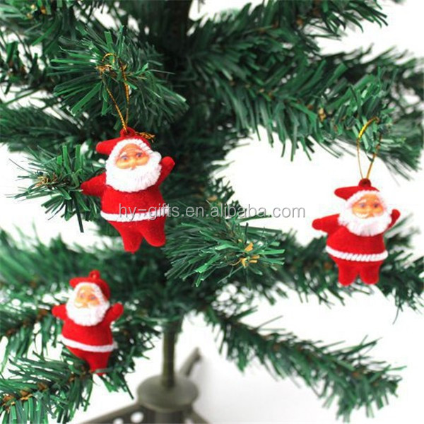 christmas tree decoration item hanging colored santa claus doll