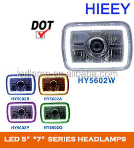high beam and low beam LED Headlight For heavy duty truck DOT approval 5X7 Inch led headlamp