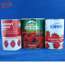 Syrup strawberry canned fruit, canned strawberry in syrup