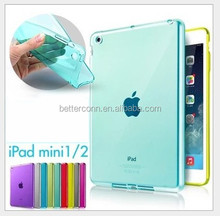 Top Quality Smooth TPU Soft Transparent Case Cover Skin Protector for Apple iPad Mini 1 2 3 Luxury Tablet Bags
