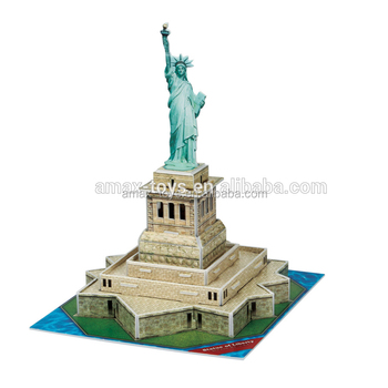 3dp-c080h Educational toys America Statue of Liberty 3D Puzzle