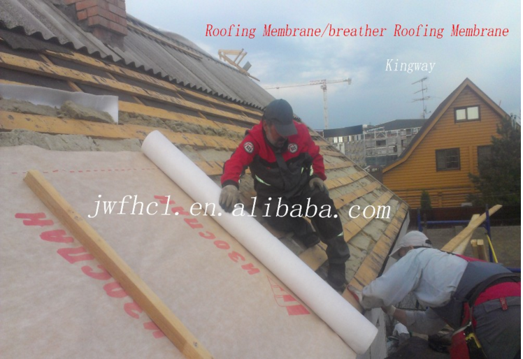 Top sell water proof 3 layers composite polypropylene breathable breather membrane for roof