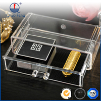 2016 fashionable clear acrylic display acrylic candy box cosmetic organizer