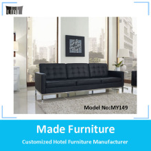 Hot sale modern design dubai leather chesterfield sofa set