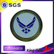 Soft enamel gold challenge coin with wing logo
