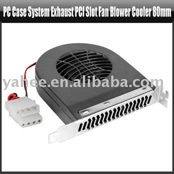 PC Case System Exhaust PCI Slot Fan Blower Cooler 80mm,YHA-PC139