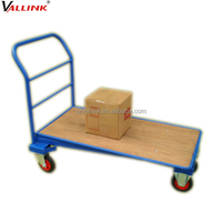 steel goods carry transport roller trolley