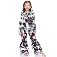 2015 kaiya skirt e-commerce firm latest color black pink floral print ruffle fall outfits clothing manufacturers