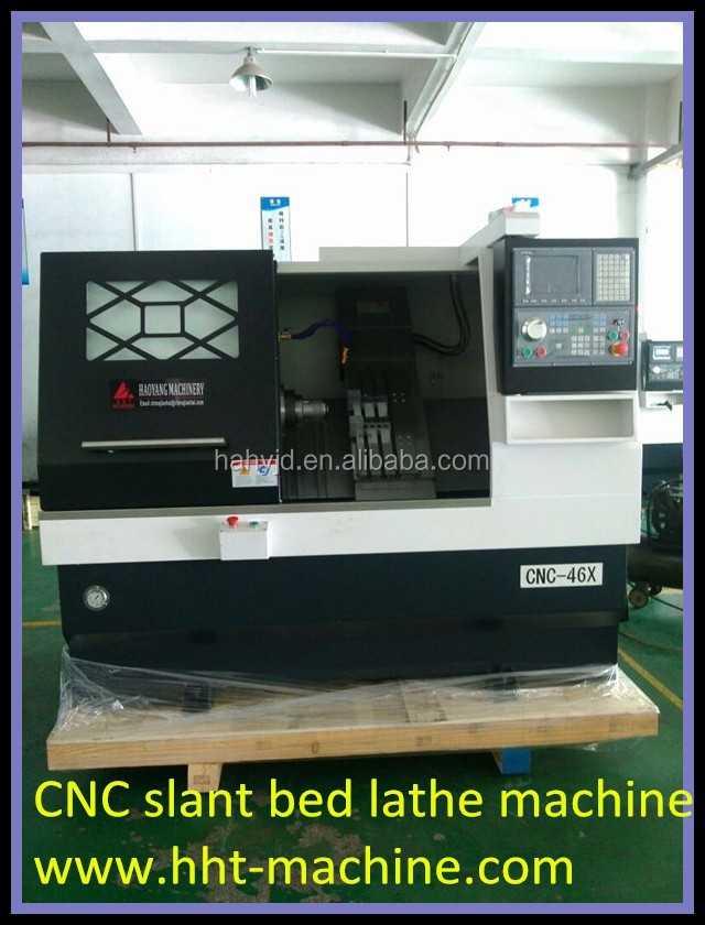 CNC36X CNC46X cnc lathe machine with chips conveyor and oil cooler