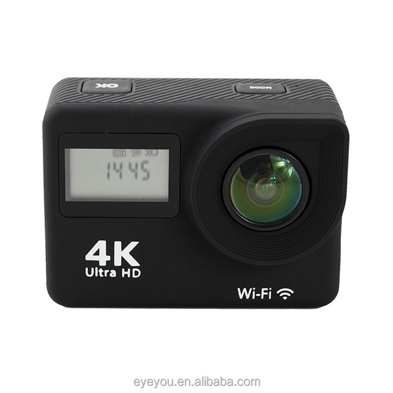 Dual screen 4K action camera ,2.0inch touch screen 4K WIFI action camera Slim hero5