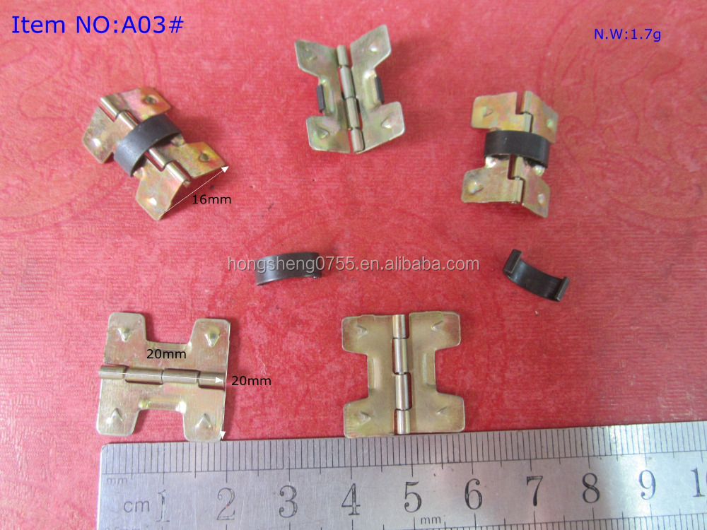 Factory Supply Cheap Price Small Jewelry Box Spring Hinge/Metal Concealed Box Hinge