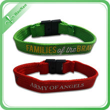 Customized logo polyester fashional personalized figured printed hollow wristbands