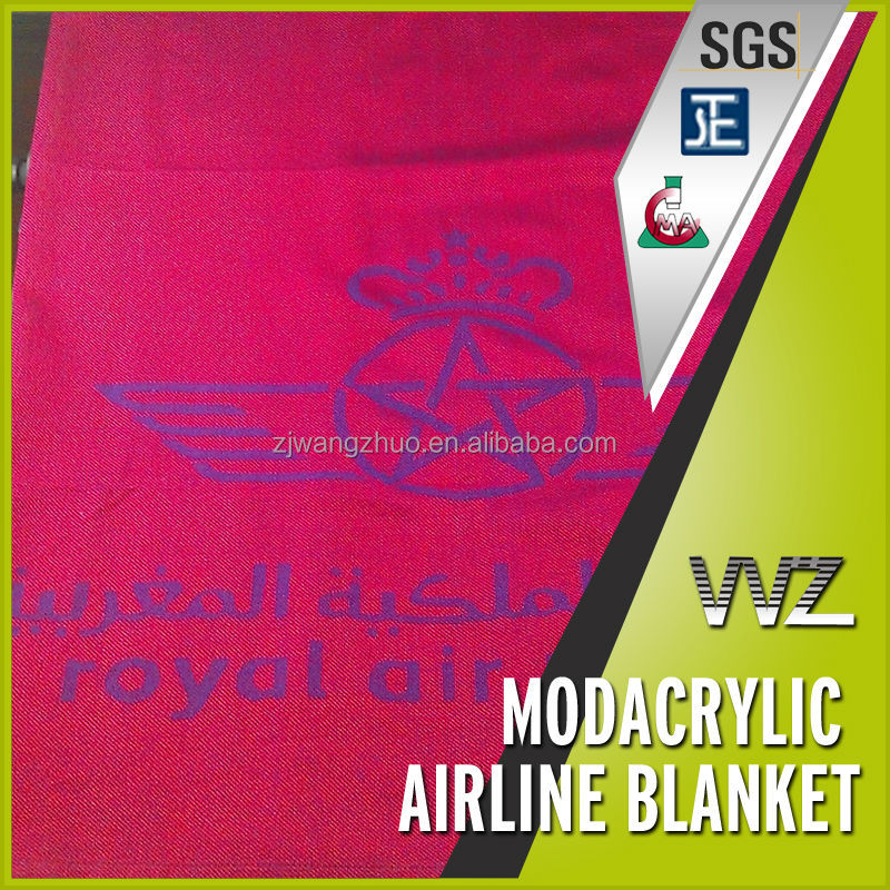Cheap price Woven jacquard modacrylic airplane blanket airline blanket small size for economy class