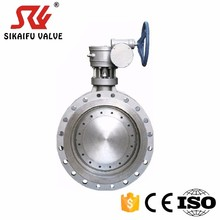 Wafer double eccentric butterfly valve DN50-2400 used in Filling Machines