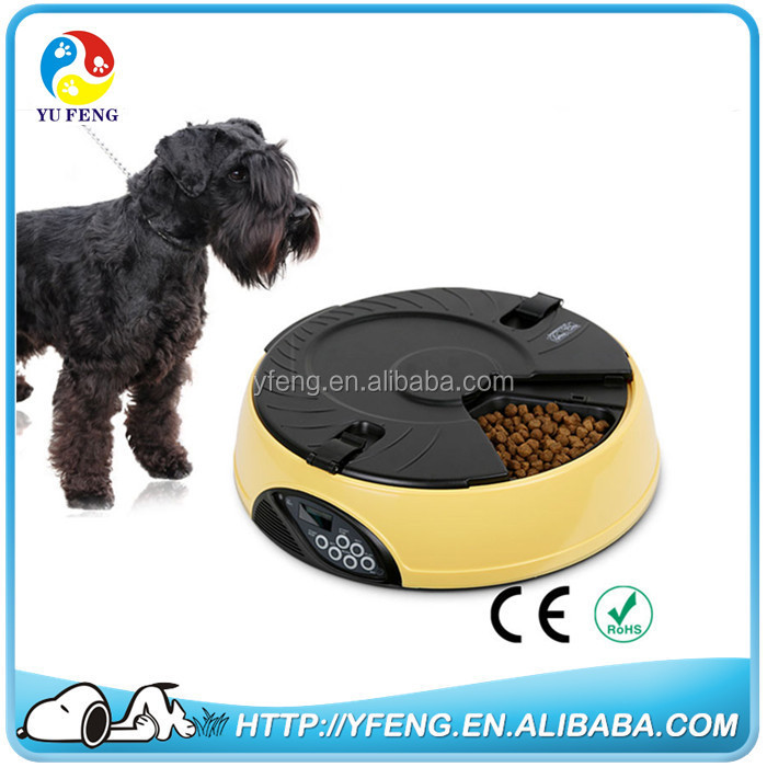 6 Meal LCD Digital Automatic Pet Feeder Dispenser Bowls Dogs Cats Feeder Tray Water Food Dish Meal With Clock Timer