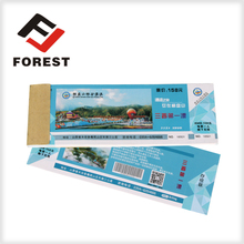 wholesale art paper enchance tickets, watermark ticket