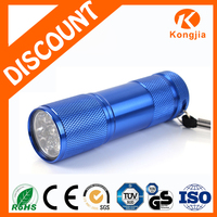Customized Pocket Size Aluminum Alloy Bright AAA Dry Battery 9 LED Strong Light Emergency Used USB Torch