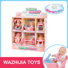 Small lovely different babies model set baby dolls 4 inch for children