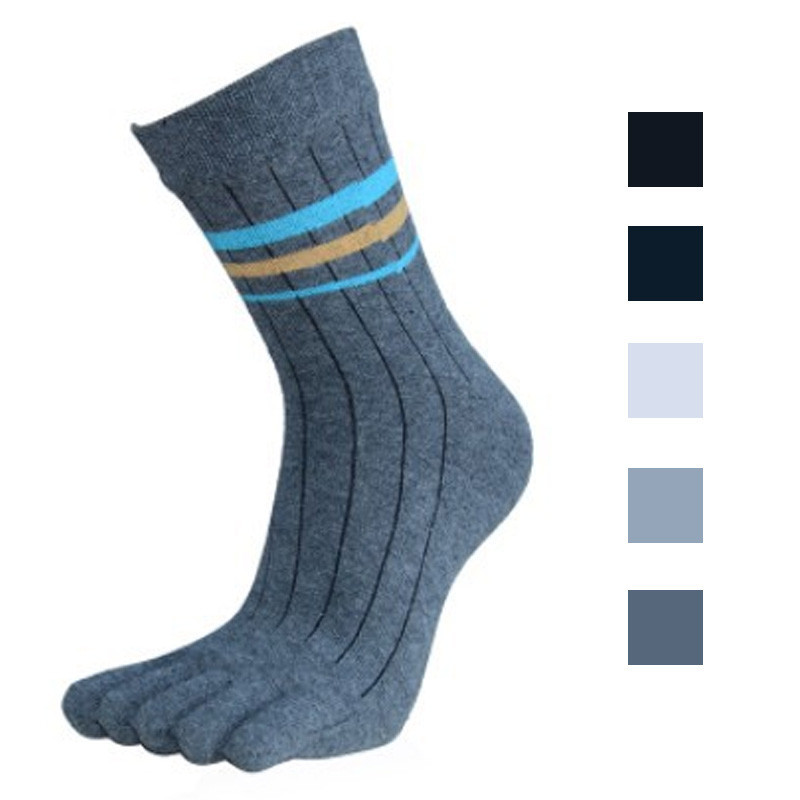High Quality 2016 Hot Sale 1 Pair Men's Socks Cotton Middle Tube Five Finger Toe Socks 5 Colors Free Shipping Wholesale