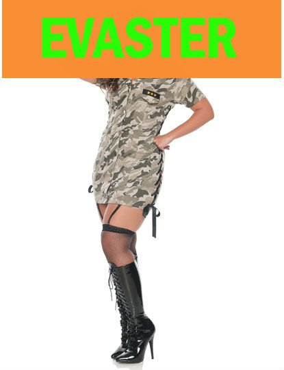 Plus Size Women Army Costume