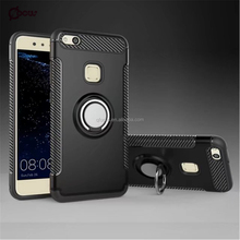 2017 new Creative ring armor cover mobile phone case with stand for Huawei P10 lite