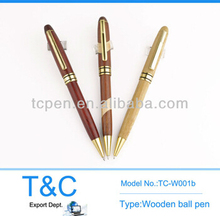TC-W001b Customized logo wooden pen