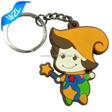 2017 2D custom shaped soft PVC keychain, wholesale handmade rubber keychains