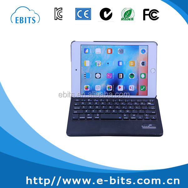 360 degree rotating leather stand & keyboard/ Bluetooth tablet keyboard for ipad mini 4