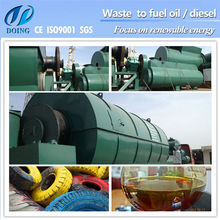 Waste Rubber&Tyre Production black engine oil to diesel oil machine