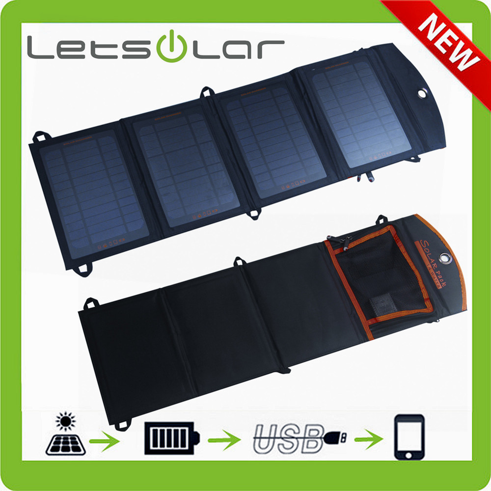 wide range solar panel foldable 14w solar bag charger