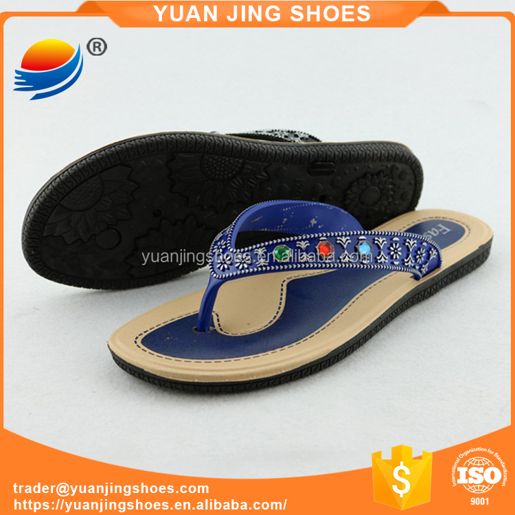 Fashion PVC Air Blow Ladies Flip Flop Slippers Shoes 1J621+2W
