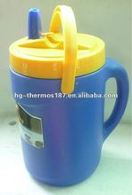 Plastic water bottle with PP liner with handle
