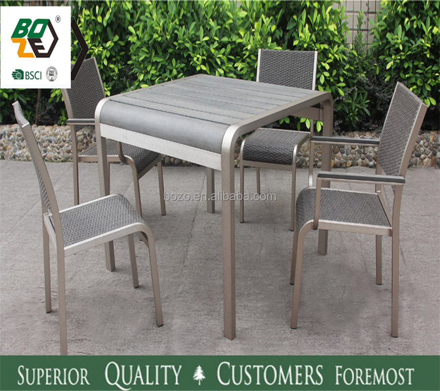 Plastic Wood Table Sets Leisure Life Outdoor Furniture Unique Outdoor  Furniture Wood Table Chairs   Buy Foshan Outdoor Furniture Garden Rattan  Table And ...