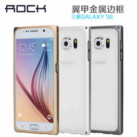 2015 rock Powerful Metal Button Metal+Aluminium Hybrid Case for Samsung galaxy S6 China alibaba good sell