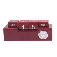 Desk top calendar hot rolling wooden calender