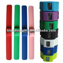 Silicone slap bracelet watch or silicone slap watch
