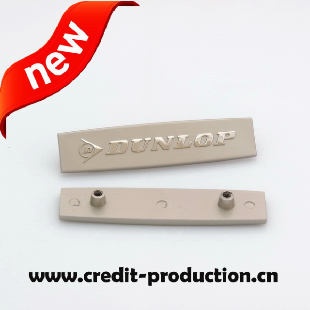 EL1084 new arrival debossed custom metal logo for wallet