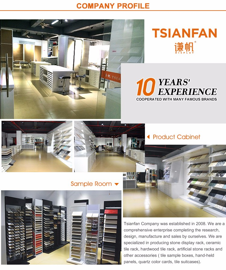 Wholesale Customized Tile Floor Showroom Storage Stone Display Cabinet