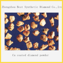 High cost performance Cu coated diamond powder for polishing