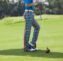 New list 4 sides stretch elastic men's casual golf trousers colorful golf pants