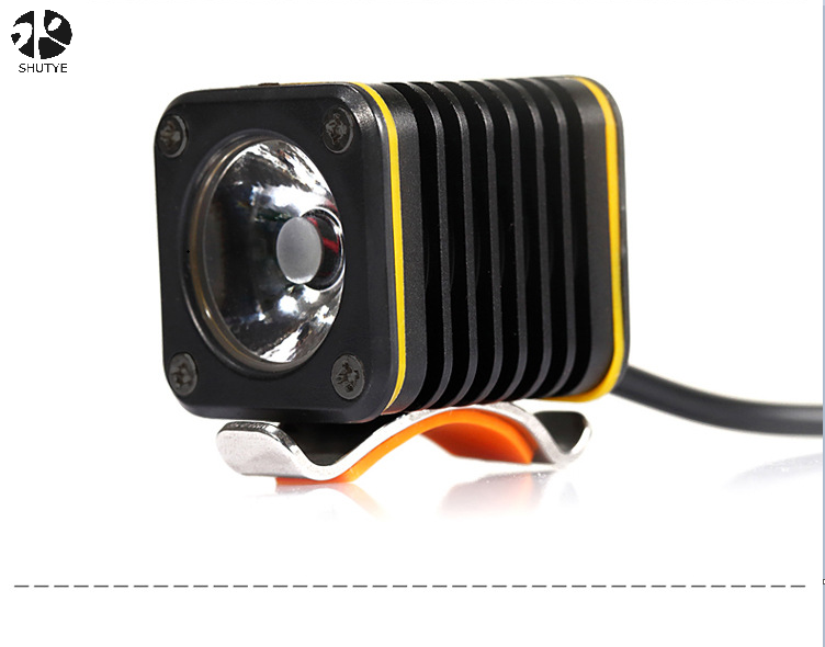 USB rechargeable aluminium alloy warning front light polymer battery bicycle bike head light/bicycle light led