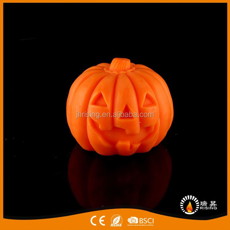 New coming functional flameless free led candle pumpkin cute candle lamp
